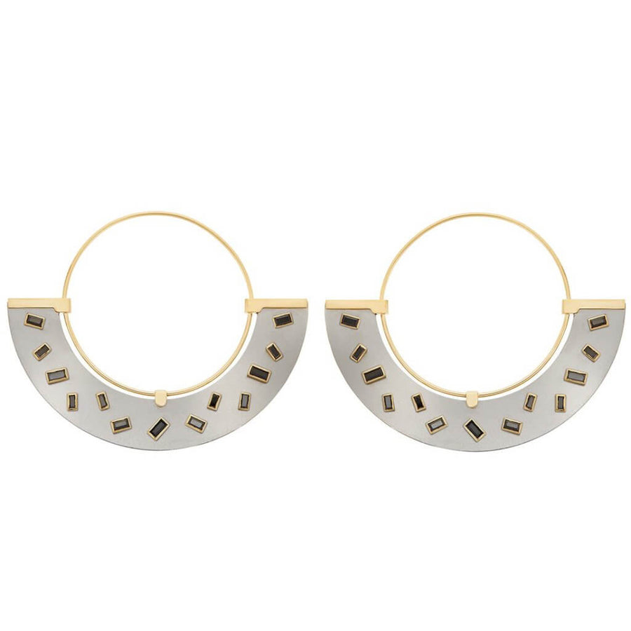 Baguette Sprinkles Half Moon Earrings BD