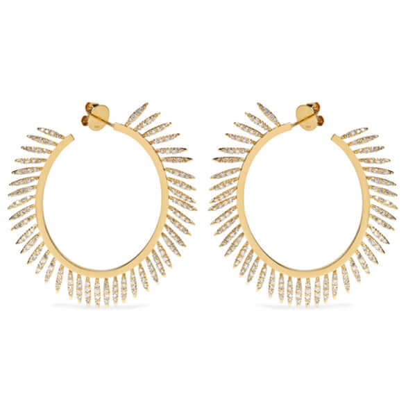 Diamond Fringe Hoops Y-CHD