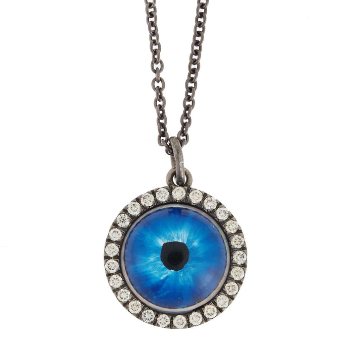 Deep Blue Glass Evil Eye W-OX-CHD