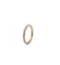 Qudo 'Eternity' Rose Gold Plated Stainless Steel Spacer Ring