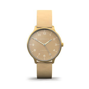 Newgate The Blip Watch - Nude Nubuck Strap Clay Dial