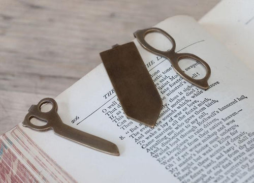 Nkuku Dayla antique brass scissors bookmark