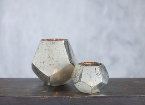 Nkuku Mirembe large silver tea lights