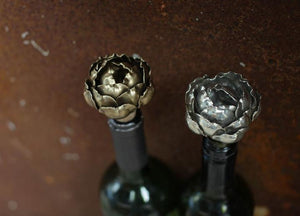 Nkuku vintage silver rose bottle stop