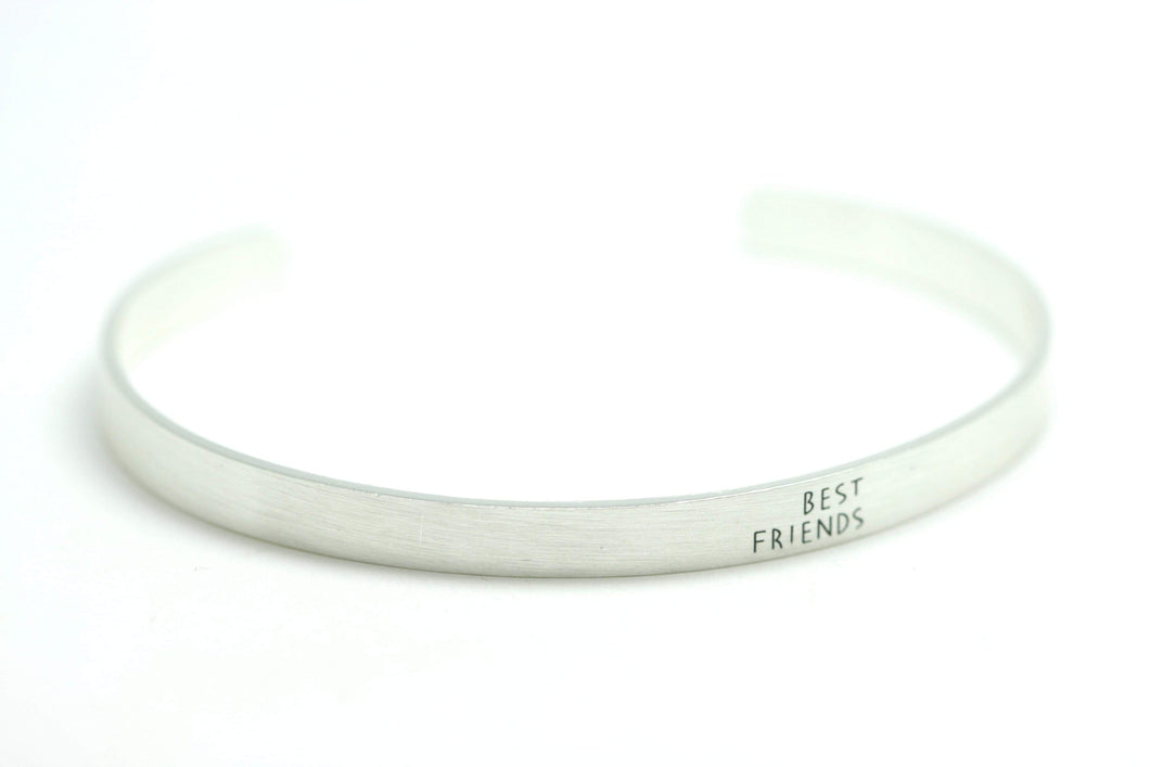Newborn Feathers Silver Best Friends Bangle