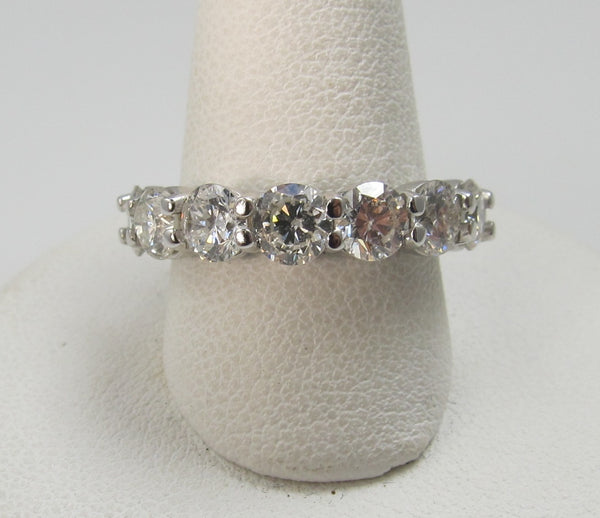 2.30ct Share Prong Diamond Band, 7 Stones, 14k White Gold