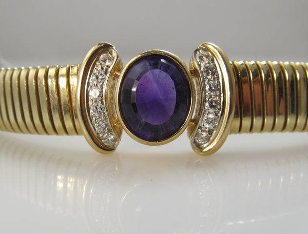 Estate amethyst diamond bracelet, Victorious Cape May