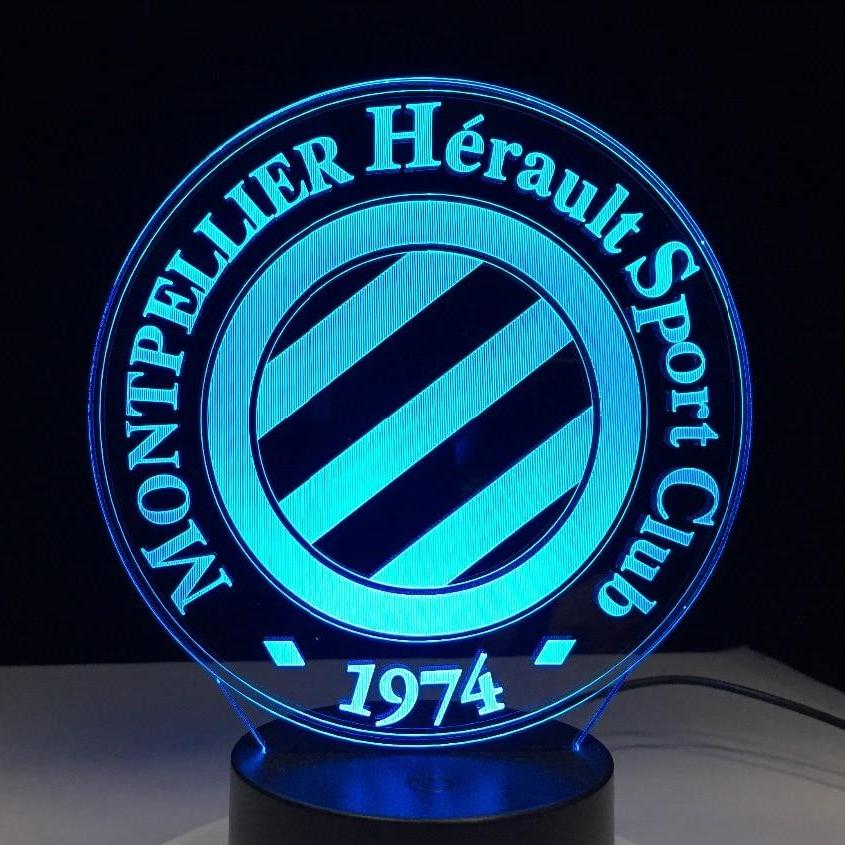 Une lampe du club de football de ligue 1 le montpellier hérault sport club
