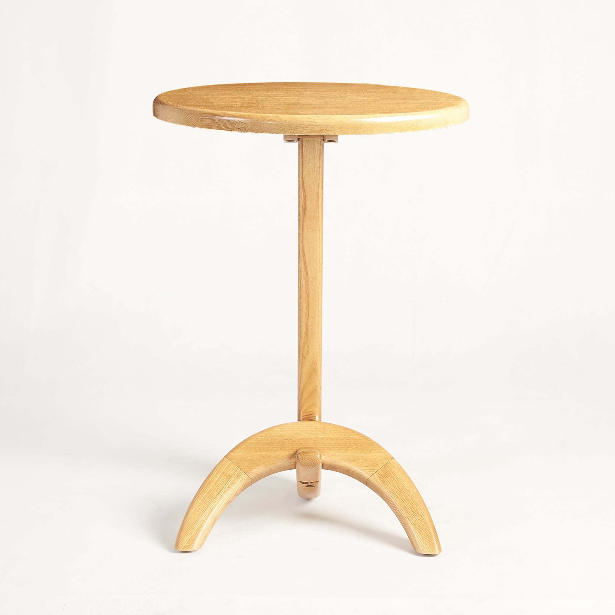 Max 33 Modern solid Ash wood Side Table - Honey Ash