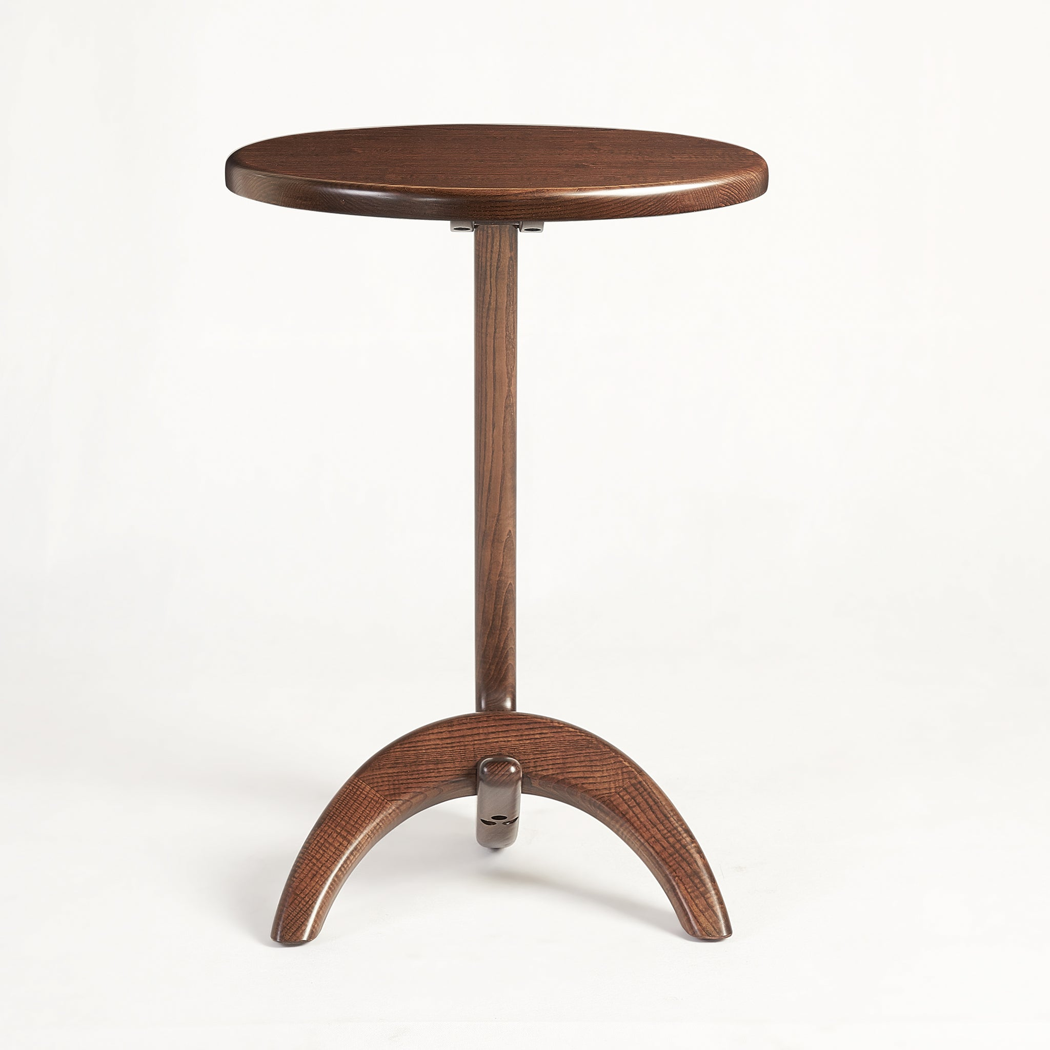 Max 33 Modern solid Ash wood Side Table - Chestnut Ash