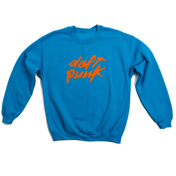 Flocked Logo Crewneck Sweatshirts