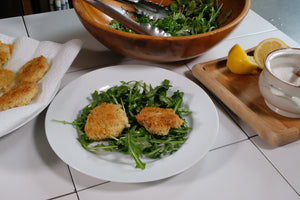 Quinoa and Goat Cheese Fritters