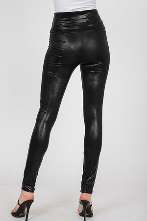 THE OCTAVIA PRINTED LEATHER LOOK LEGGINGS