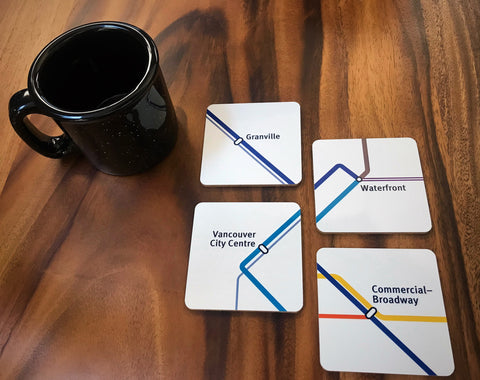 Station Map Coasters