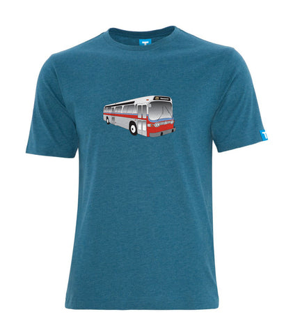 """New Look"" Bus T-Shirt, Men's- Heather Teal"