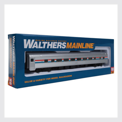 Walthers Mainline HO 910-30001 85' Budd Large-Window Coach, Amtrak (Phase 3)