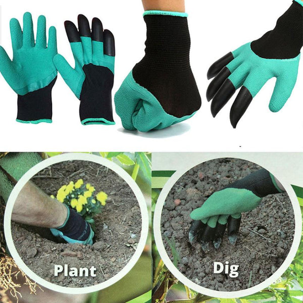 Garden Gloves with Claws For Digging and Planting - ModernKitchenMaker.com
