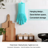 Magic Silicone Dish Washing Gloves - ModernKitchenMaker.com