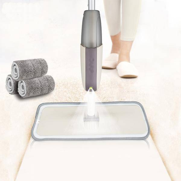 Spray Floor Mop with Reusable Microfiber Pads and 360 Degree Handle Great for Home Kitchen Laminate Wood Ceramic Tiles Floor Cleaning - ModernKitchenMaker.com