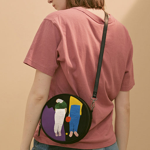 The Ping Pong Embroidered Messenger Bag