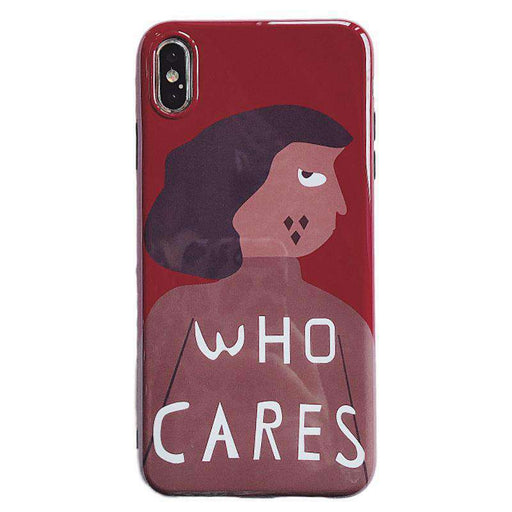 The Who Cares iPhone Case