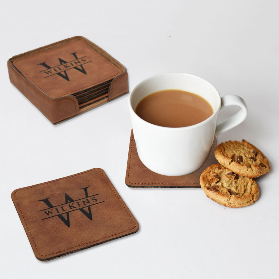 Engraved Square Custom Coasters