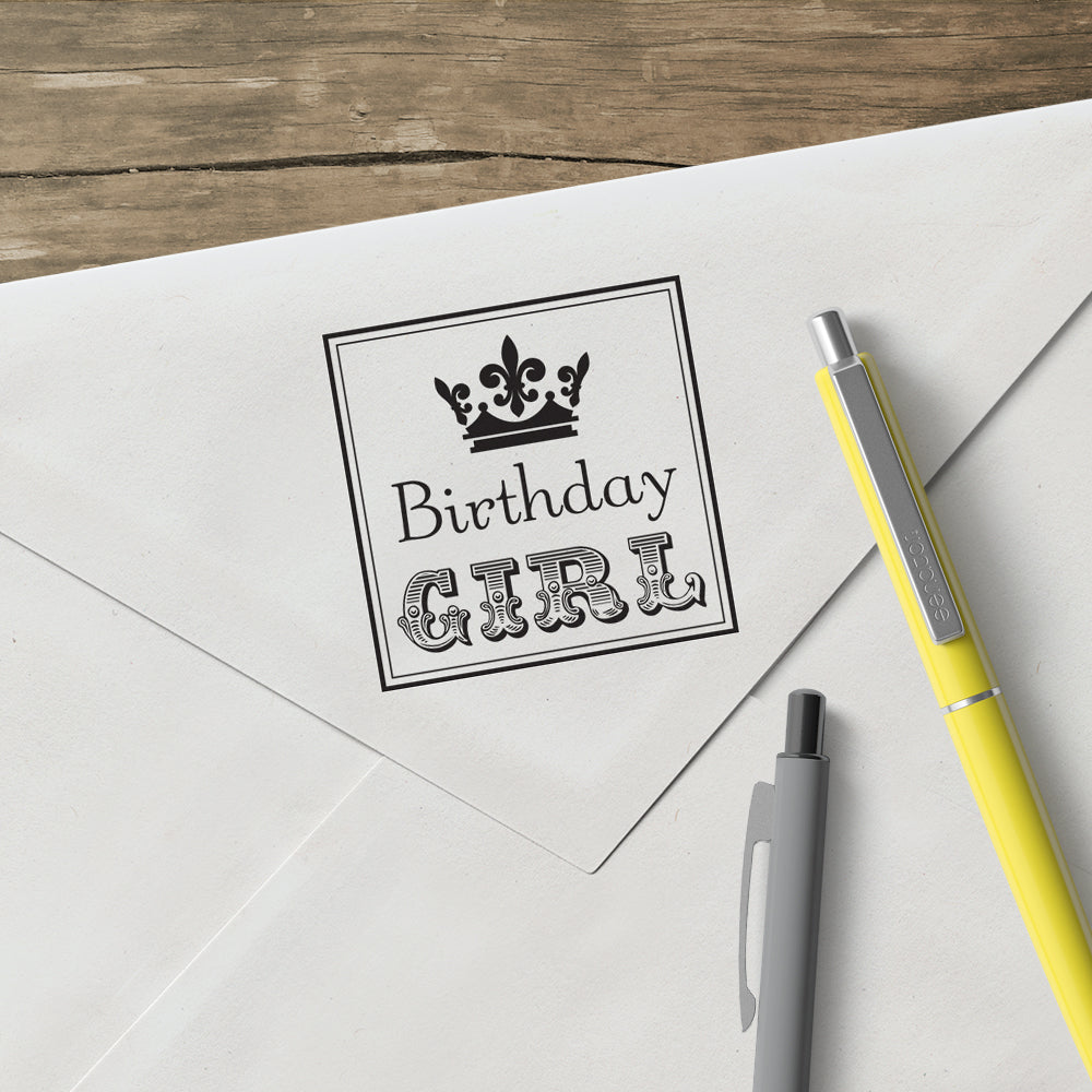Square Salutations Birthday Mix and Match Designer Stamp Clip from Artisan Stamp