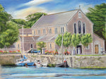 Claddagh church - Fine art giclee print - Boats, Church, Claddagh, Galway, Ireland, Water