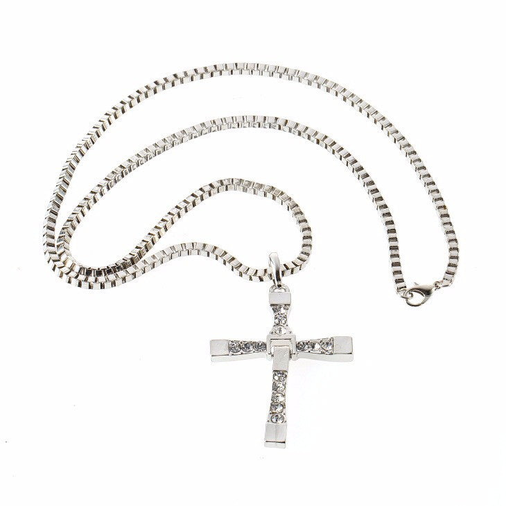 The Fast And The Furious Inspired Cross Pendant Necklace - Streetwear Jewelry