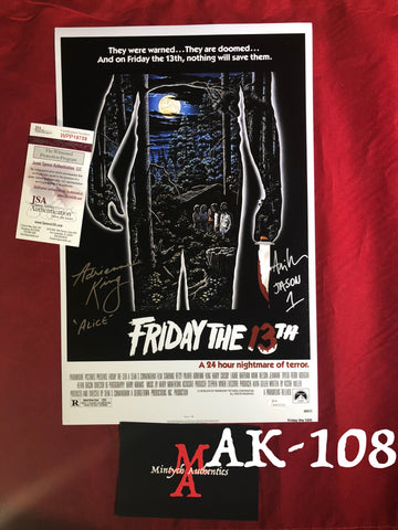 AK_108 - 11x17 Adrienne King & Ari Lehman Autographed Photo