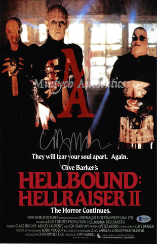 CB_186-11x17 Photo Autographed By Clive Barker