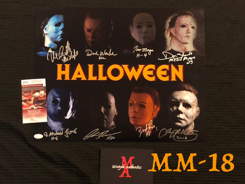 MM_18 - 16x20 Photo Autographed By Multiple Michael Myers