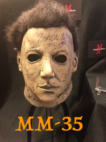 MM_35 - Michael Myers Mask Autographed By Multiple Michael Myers