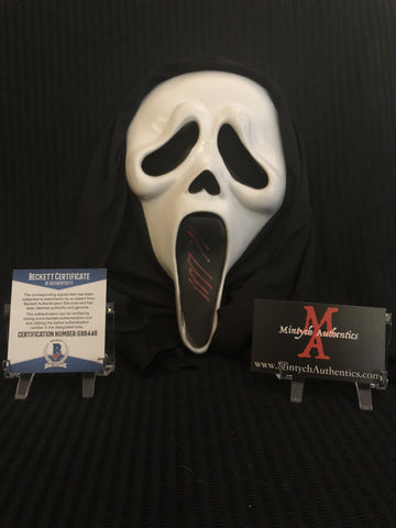 NEVE_27 - Ghostface Mask Autographed By Neve Campbell