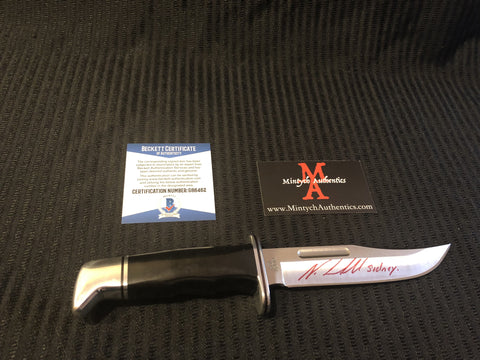 NEVE_33 - Real Buck 119 Knife Autographed By Neve Campbell