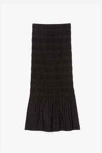Black pleated skirt with ruffles Adenza