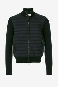 Moncler Padded Front Cardigan Black Men's