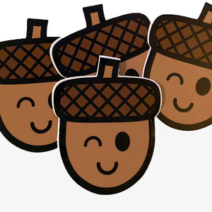 Winking Acorn sticker