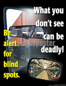 Safety Poster - How Many Blind Spots Can You See? - safetyposter.com