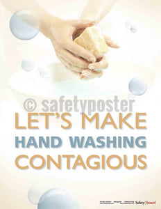 Safety Poster - Let's Make Hand Washing Contagious - safetyposter.com