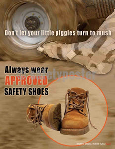 Safety Poster - Use Approved Safety Shoes - safetyposter.com