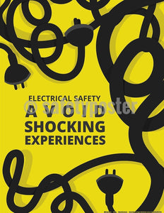 Safety Poster - Electrical Safety Avoid Shocking Experiences - safetyposter.com