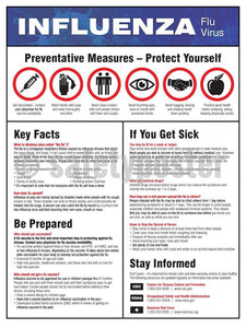 Influenza Prevention Measures - Safety Poster Health & Wellness