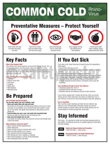 Common Cold Prevention Measures - Safety Poster Health & Wellness