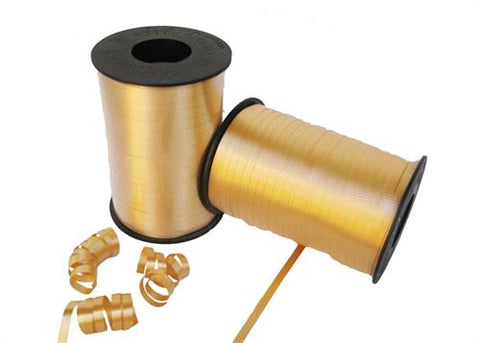 Gold Curly Ribbon 5mm X 500 Yards (1 Roll)