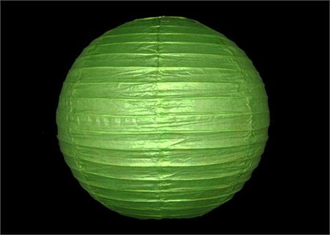 "12"" Apple Green Round Paper Lantern"