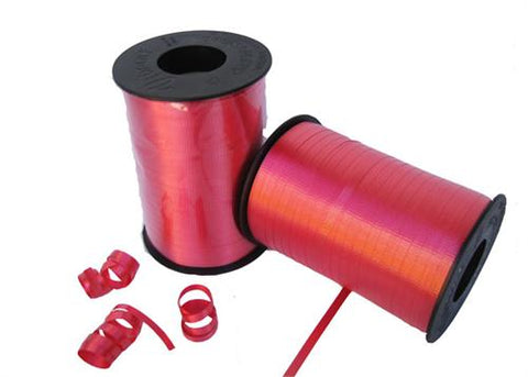 Red Curly Ribbon 5mm X 500 Yards (1 Roll)