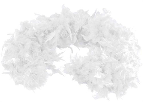 6' Feather Boa White