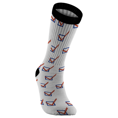 TRANSform the Vote Check Mark Socks