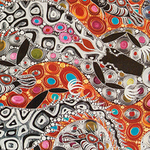Postcard - A design by Indigenous artist Melanie Hava titled Salt and Freshwater Crocodiles